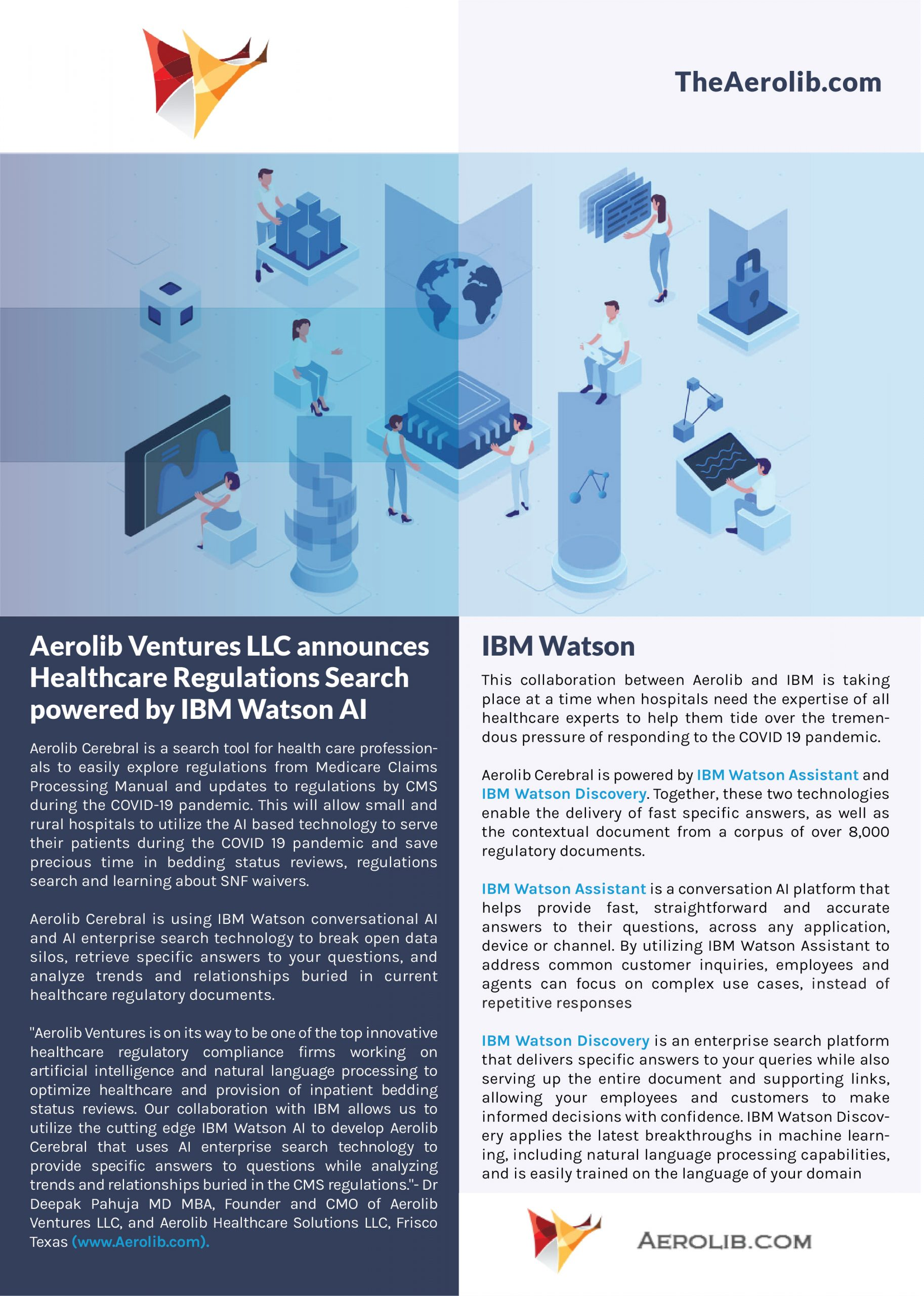 Aerolib Ventures LLC announces Healthcare Regulations Search powered by IBM Watson AI
